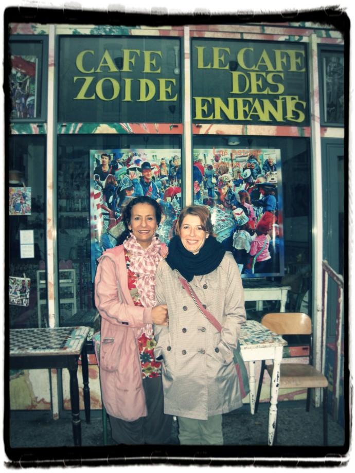 Aïsha et Gwenn au Cafézoïde