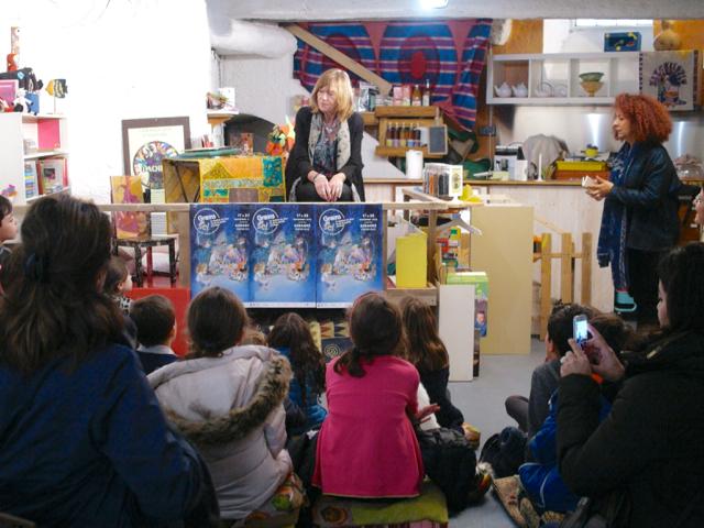 Marie Sellier au Baobab Café des Enfants